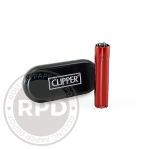 Clipper Metal Cased Red Devil Lighter